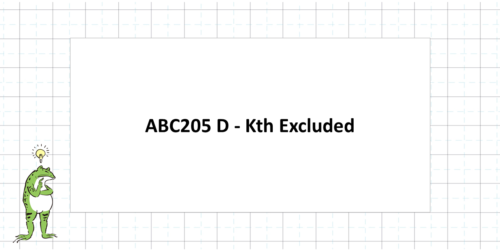 ABC205 D - Kth Excluded
